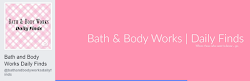 Love Bath & Body Works Too? Let's stay in touch...on Facebook - Click here