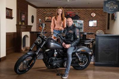 Bogdan Stelea la Harley-Davidson Bucuresti