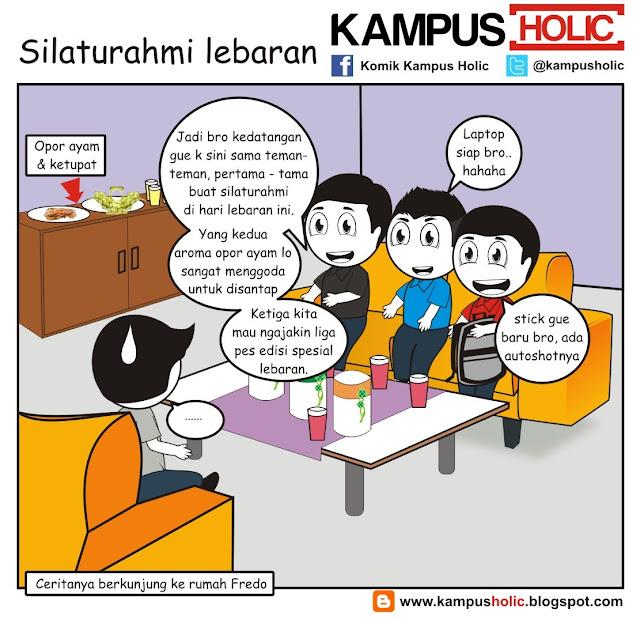 #228 Silaturahmi lebaran Hari raya Idul Fitir 1434 Hijriyah tahun 2013 komik kampus holic