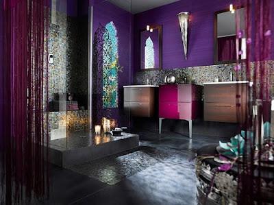 abstract wall bathroom