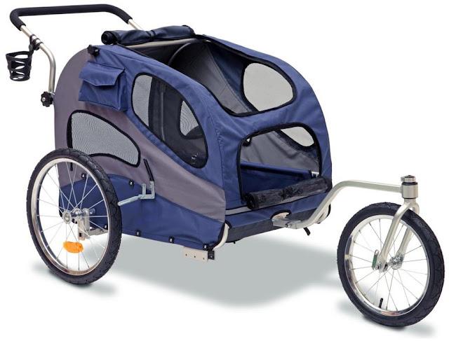 Solvit Houndabout Ii Pet Bicycle Trailer Aluminum Large