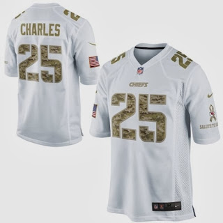 Nike Jamaal Charles Kansas City Chiefs NFL Salute to Service Game Jersey