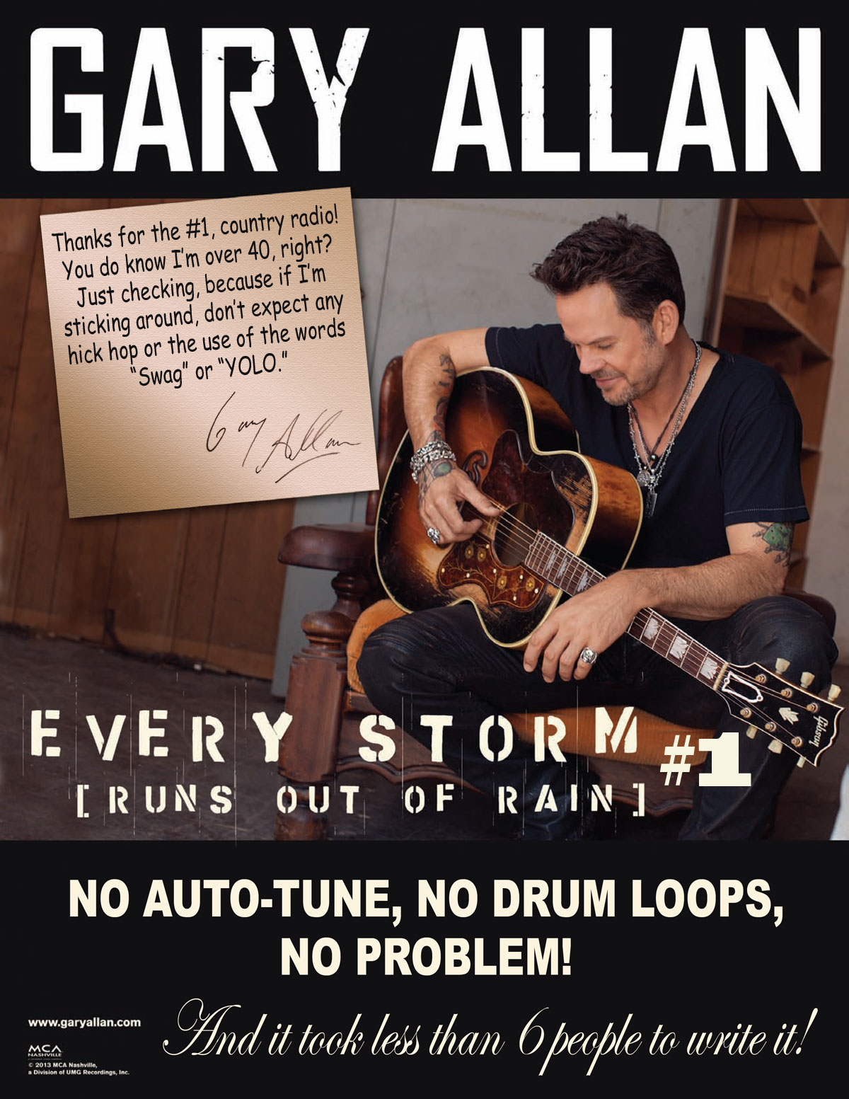 Gary Allan Thanks Country Radio For His 1 Song