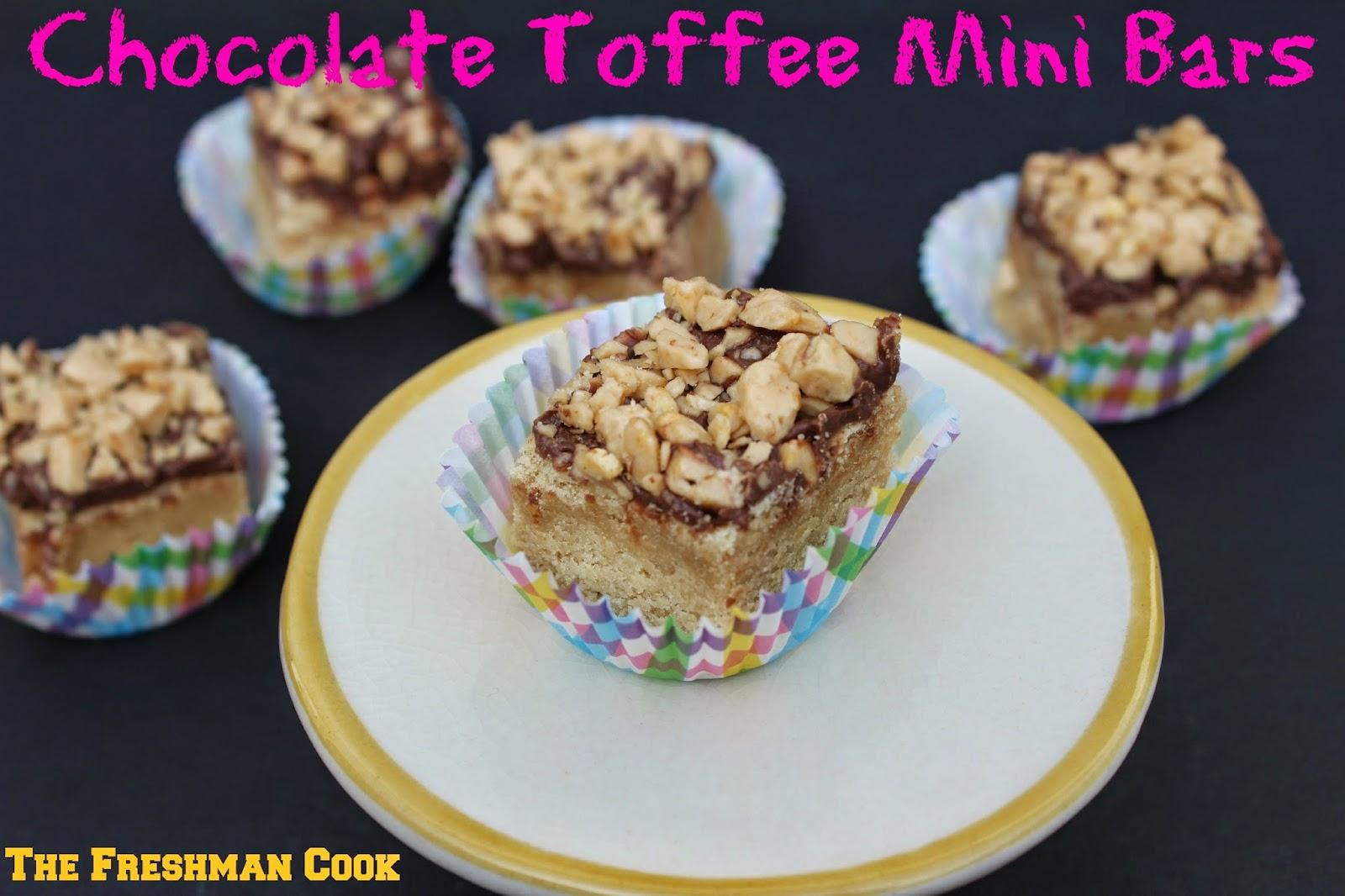 Chocolate Toffee Mini Bars