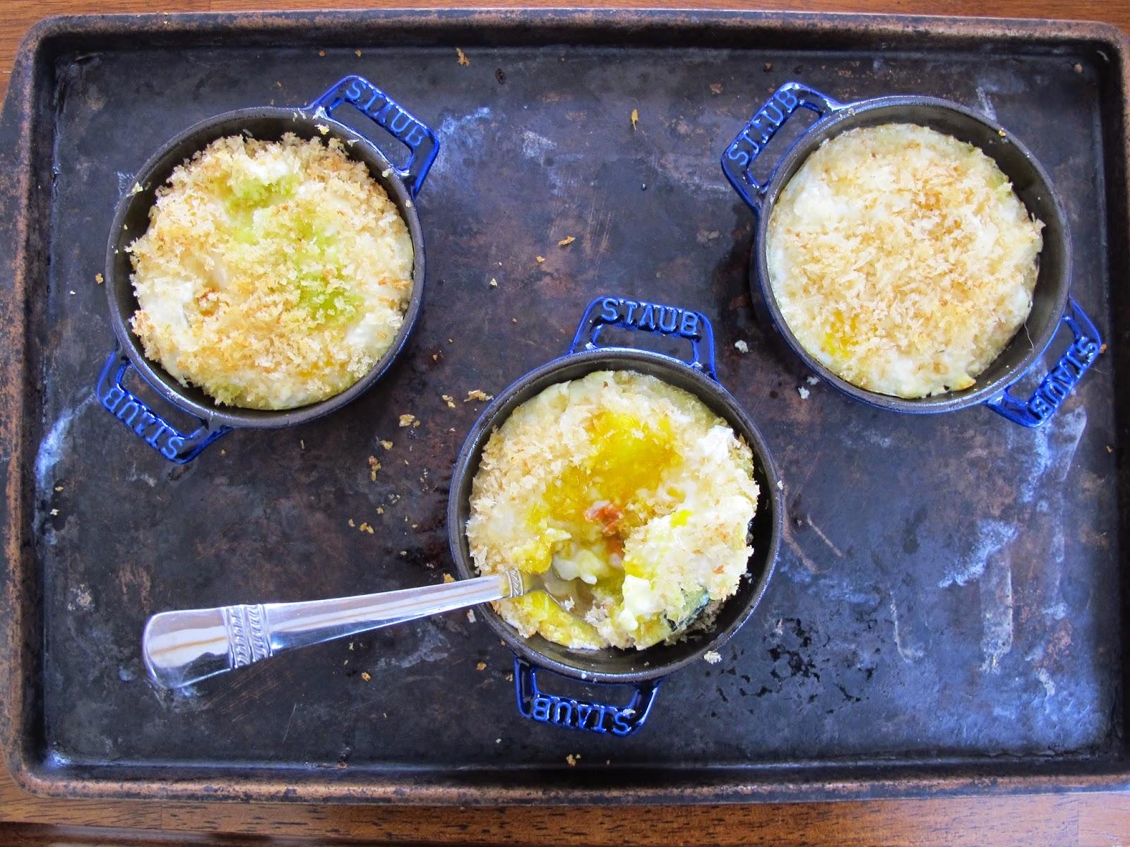 My Paris Kitchen Baked Eggs, Smoked Salmon, Kale