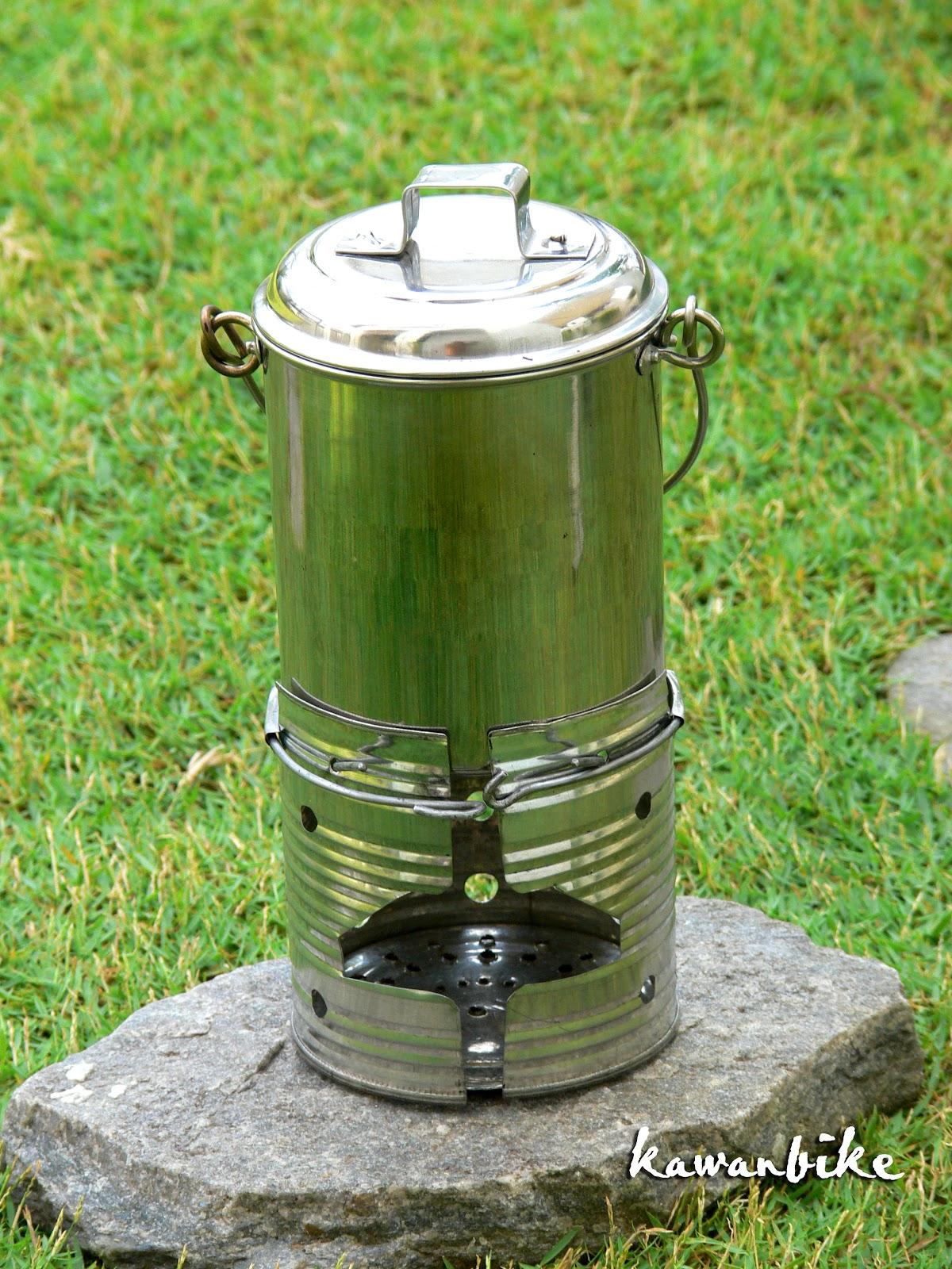Kawanbike ultralight diy stove mini cook kit update for Diy cooking stove
