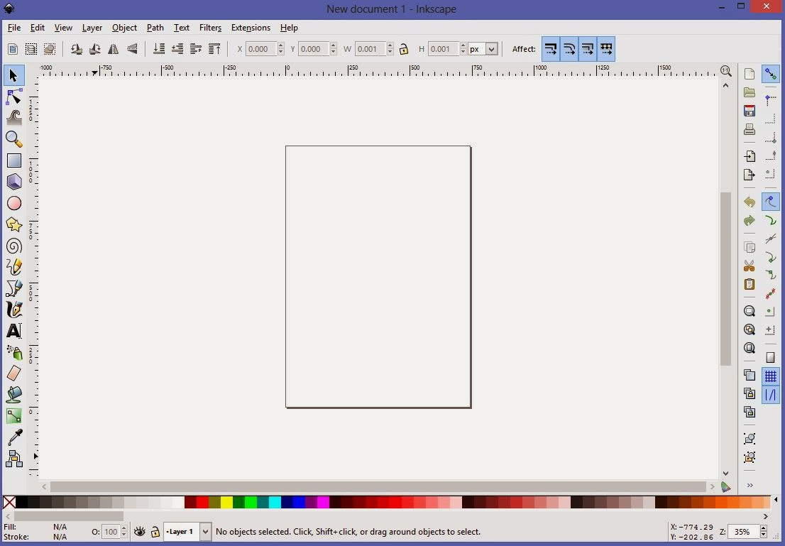 How to create a simple Facebook page cover photo with Inkscape