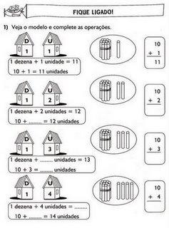 Atividades de Matemática - Conhecendo os numerais e cálculos de  adição