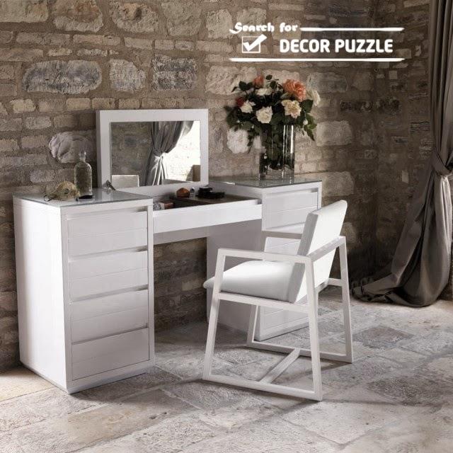Modern White Dressing Tables, Modern Dressing Table Designs For Bedroom