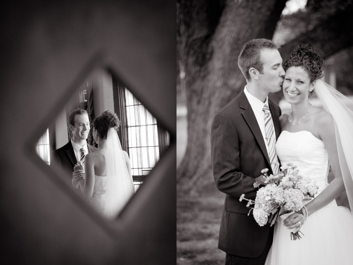 Wedding First Look, Black & White wedding portrait