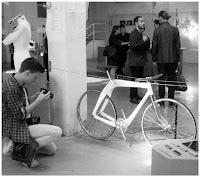 Composite wood frame for aero bike shown at Milan design week 2015