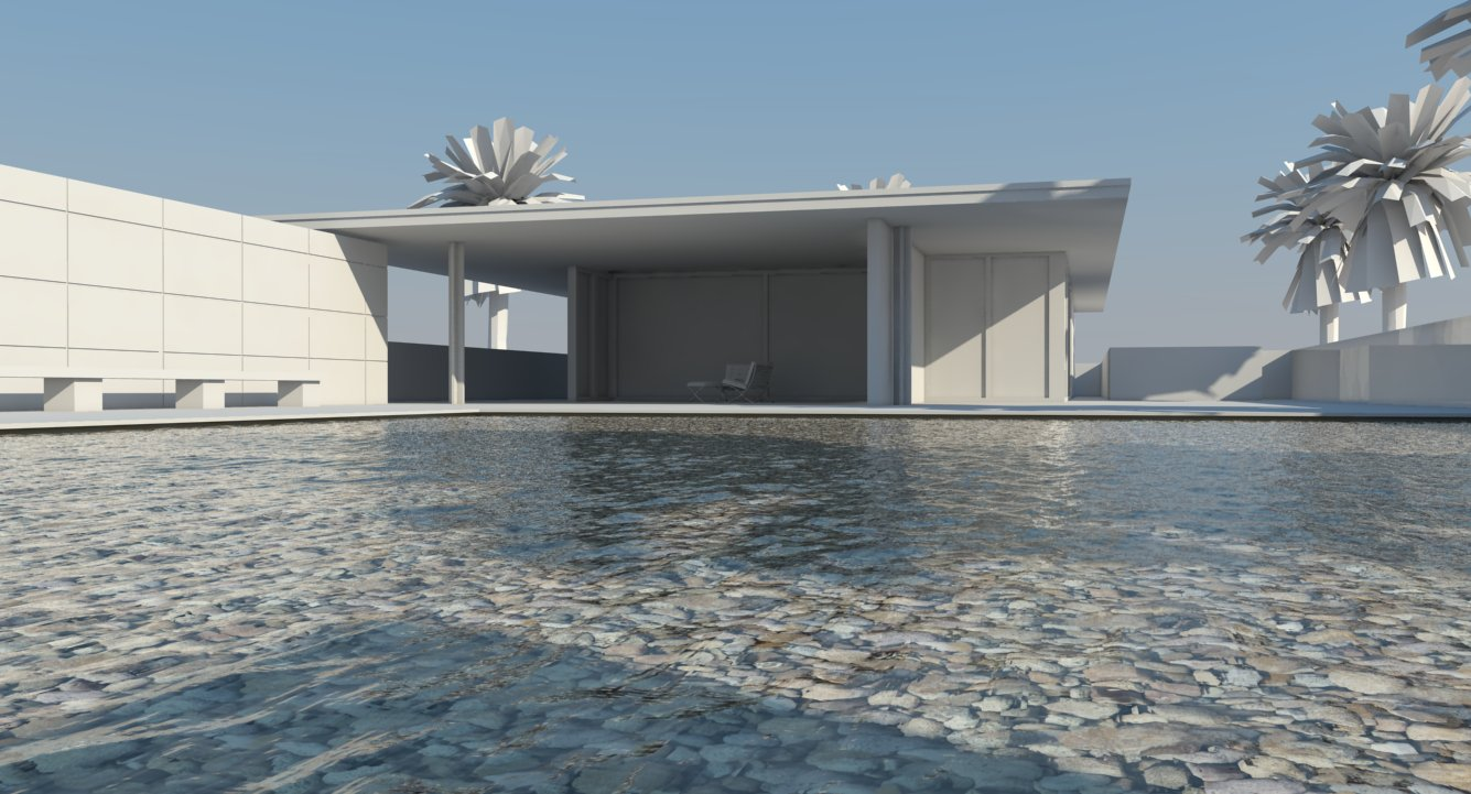 Nomeradona Tutorial How To Create Pool Water In Vray Sketchup
