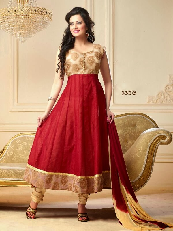 Unique Look Graceful Chanderi Silk Anarkali Suits In Wholesale ...