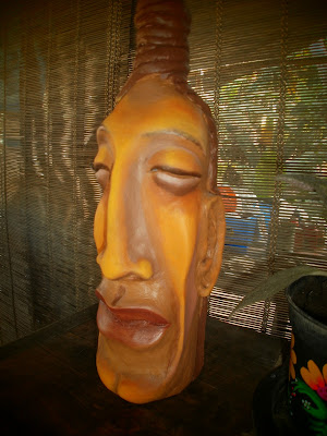 >>>BOTELLAS DECORADAS ...  papel mache. P2140335