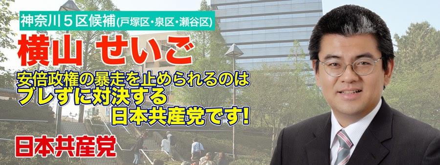 日本共産党 小選挙区神奈川5区 横山せいご【公式サイト】