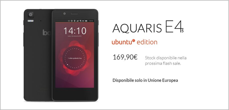 BQ Aquaris E4.5 Ubuntu Edition