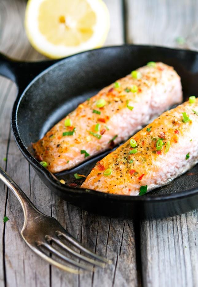 Easy Ginger, Chili and Lemon Salmon