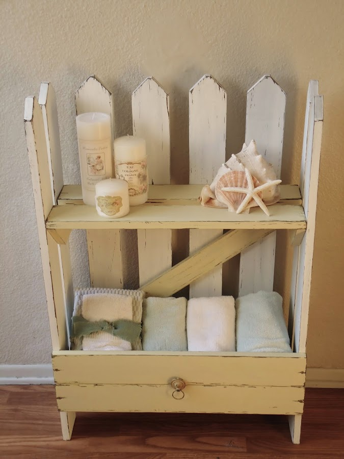 Shabby Chic Picket Fence Table - SOLD