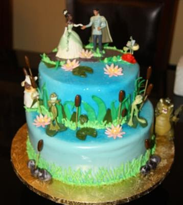 disney princess and frog cakes. The Princes and The Frog Cake