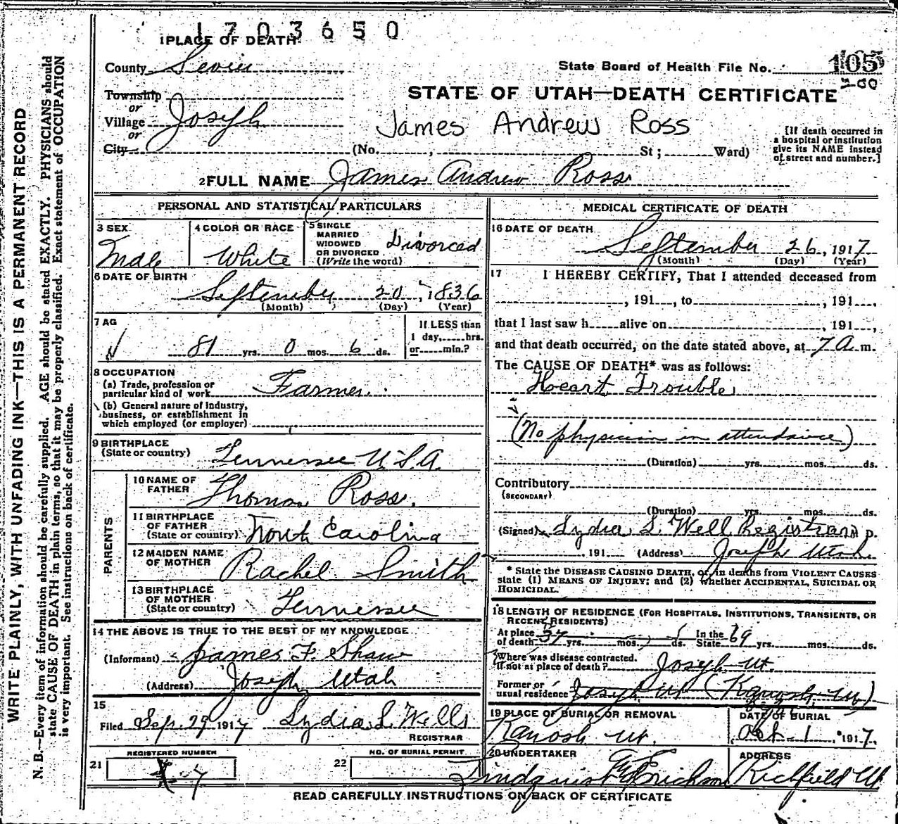Pamelas genealogy addiction october 2011 utah state of utah division of archives records services death certificate 34 1909 karl t anderson digital image state of utah accessed 3 oct 1betcityfo Choice Image