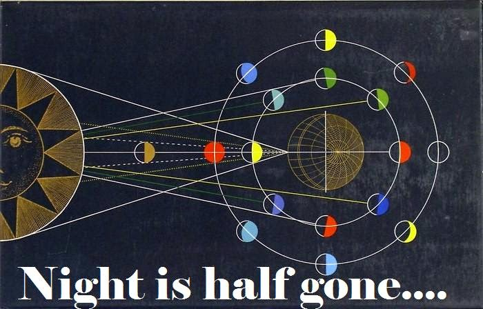 night is half gone...