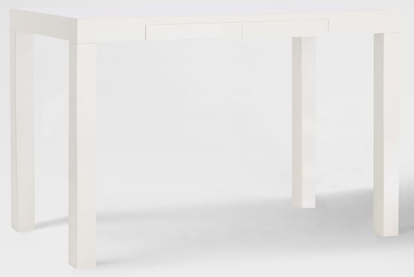 Parsons Desk With Drawer  White   349. Mix and Chic  Fabulous finds  Modern White Desks  In Every Price