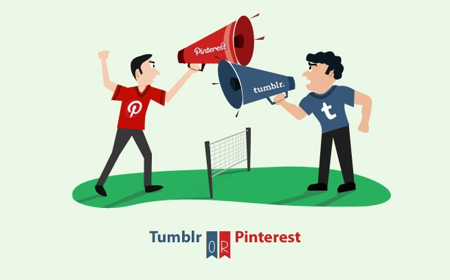 Pinterest or Tumblr: Which Works Best For Your Visual Content - infographic