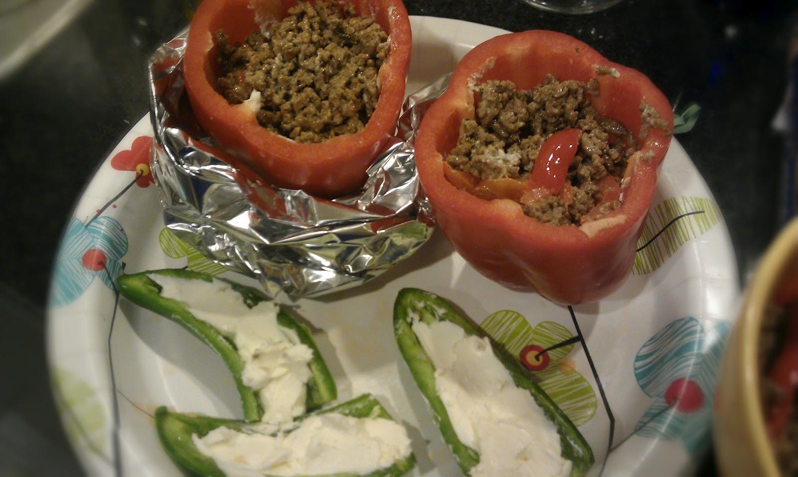 how to make stuffed peppers keto