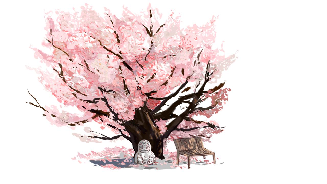 cherry blossom tree pencil drawing wwwimgkidcom the
