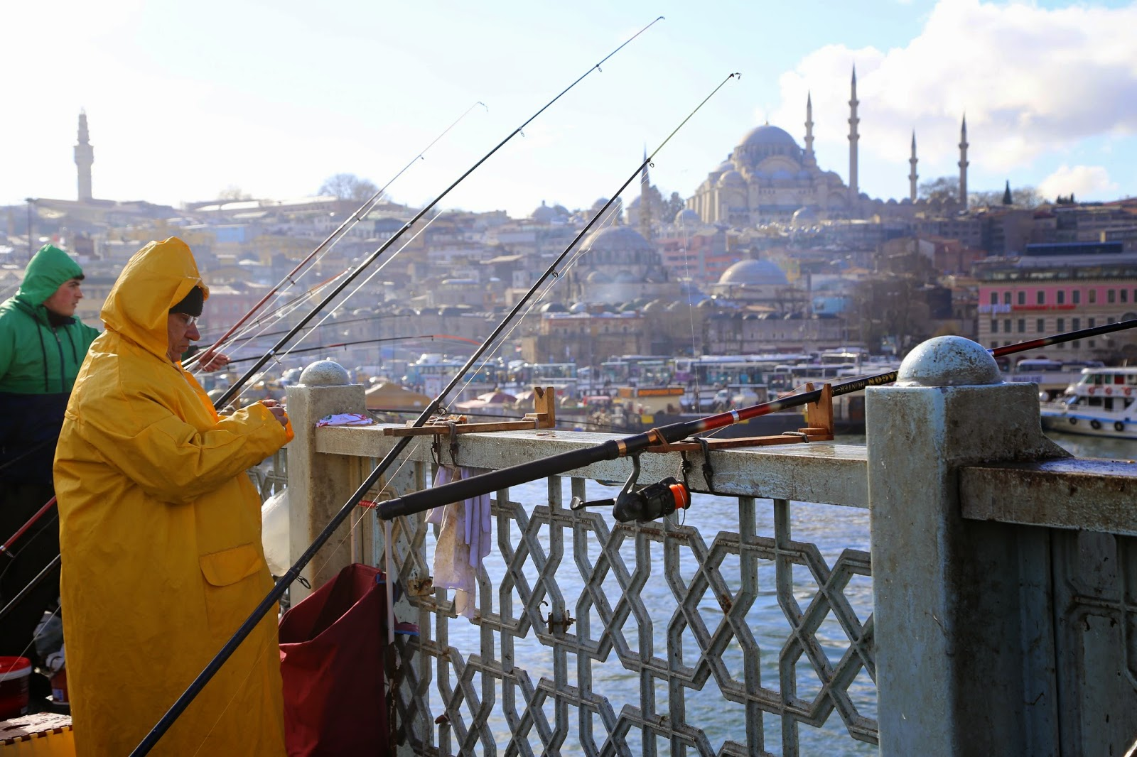 fisherman on the galata bridge, Istanbul