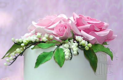 Zuckerrosen Hochzeitstorte