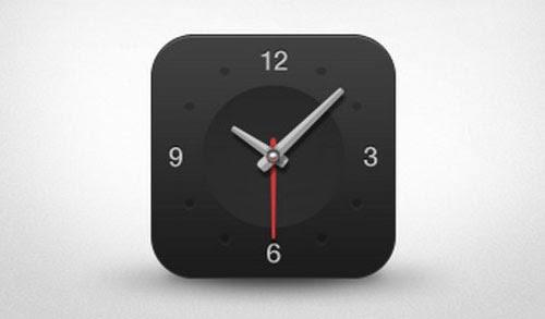 Dark Clock App Icon
