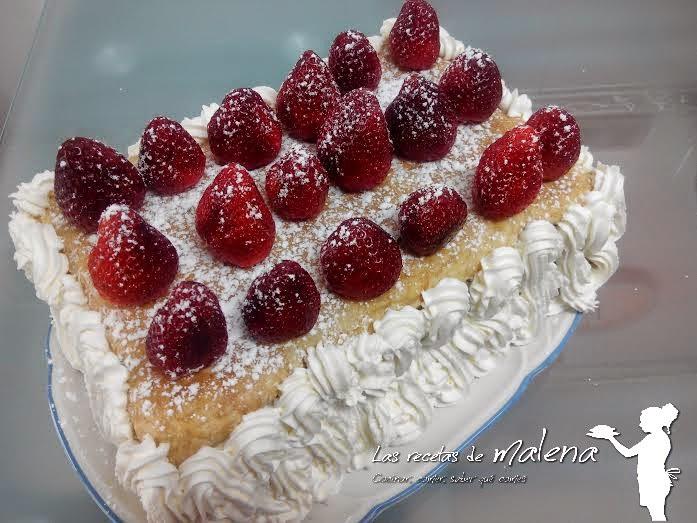 Milhojas de fresas con nata