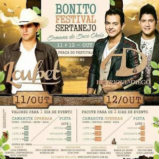 Bonito Festival Sertanejo. Foto: Divulgação