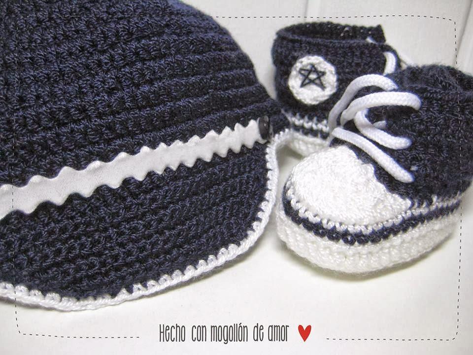 Hecho con mogollón de amor ❤: Converse de crochet