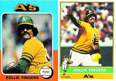 1975 and 1976 Topps Rollie Fingers