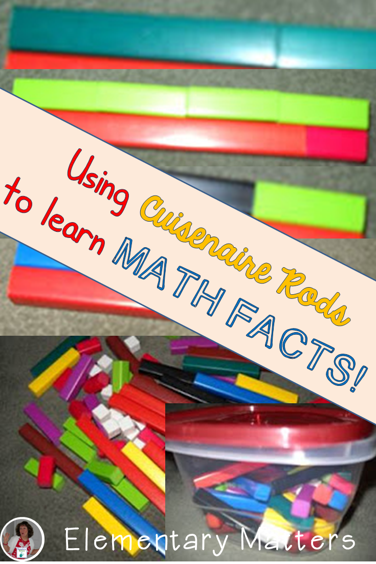 Worksheet Learning Math Facts elementary matters learning math facts with cuisenaire rods and a brain research tells us that being physically involved the process helps it also suggests use of col