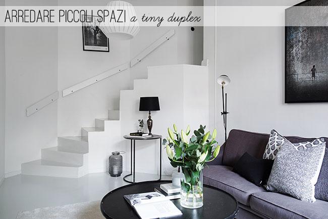 Arredare piccoli spazi a tiny duplex home shabby home for Arredare piccoli spazi cucina soggiorno