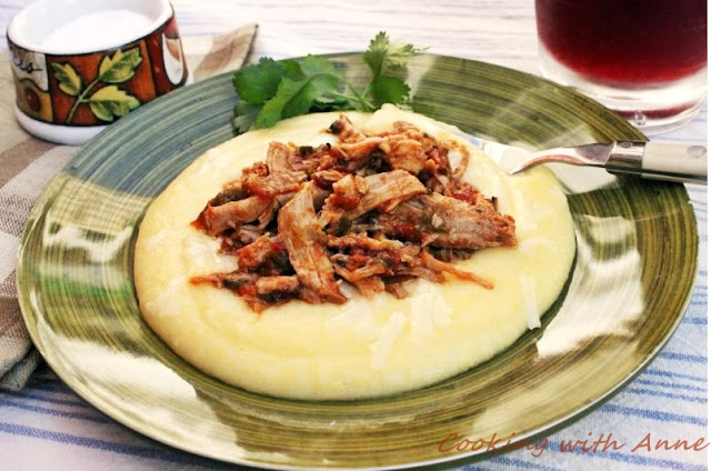 Salsa Pork and Cheesy Polenta