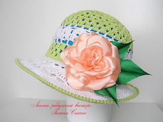 вязание крючком , летние шляпы