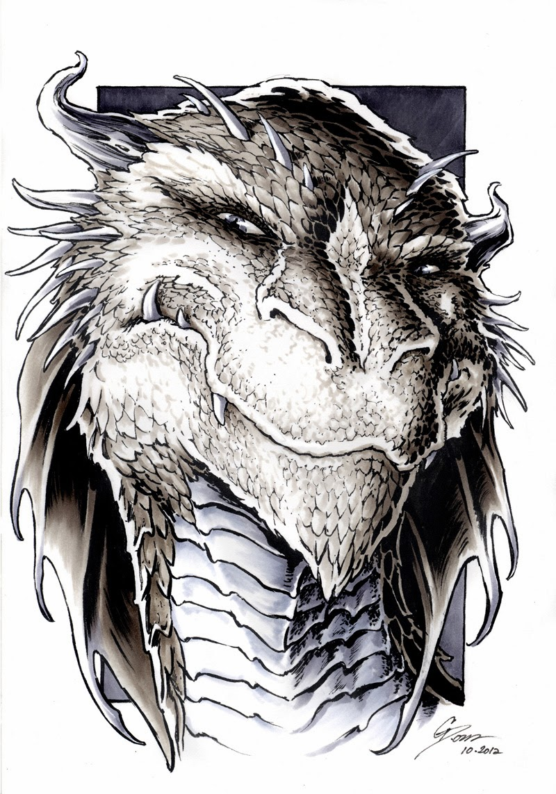 smaug-the-dragon-portrait