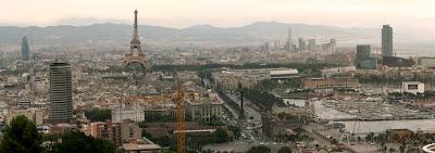 Imágen de Barcelona con la Torre Eiffel