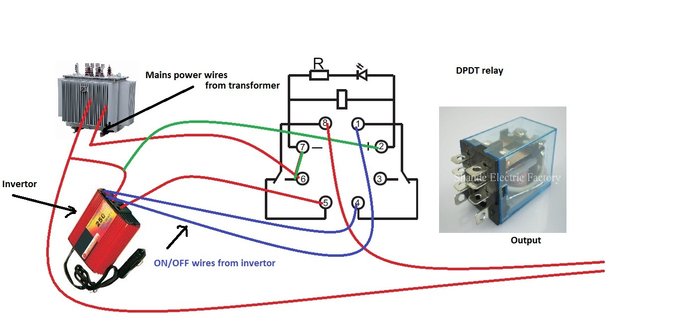 Change+over ksf electronics auto changeover from inverter generator to changeover relay wiring diagram at soozxer.org
