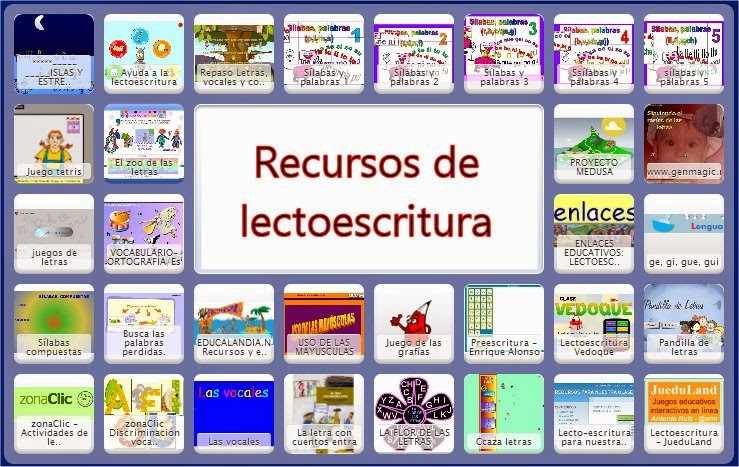 RECURSOS DE LECTOESCRITURA