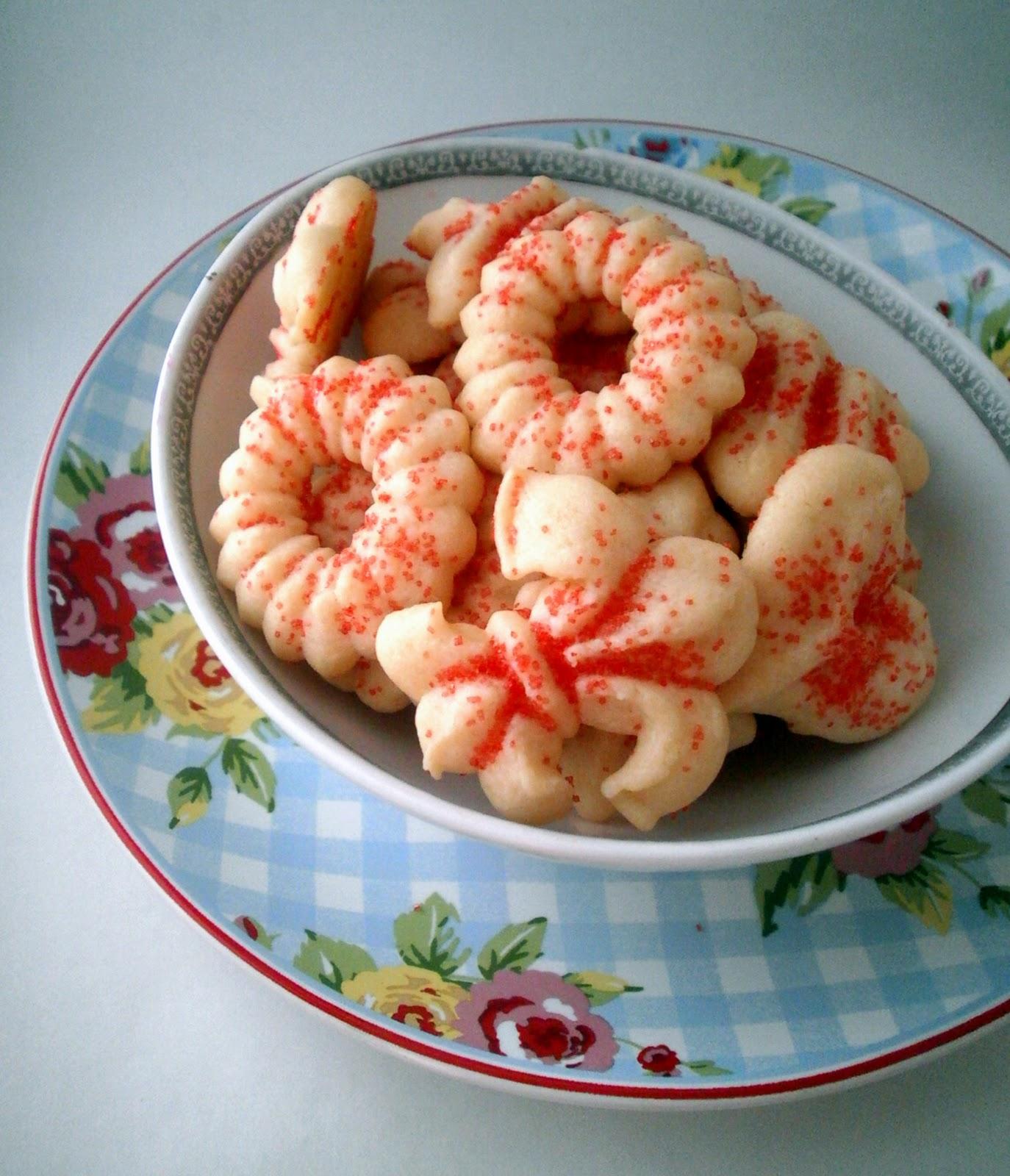 Spritz Cookies Recipe — Dishmaps