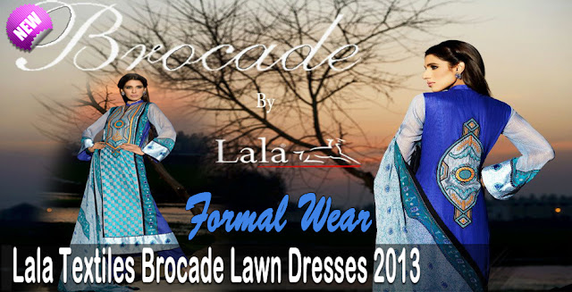 Formal Wear | Lala Textiles Brocade Lawn Dresses Collection 2013