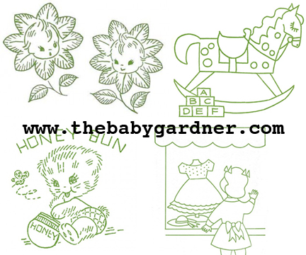 The Vintage Pattern Files 1940s Embroidery Nursery Embroidery