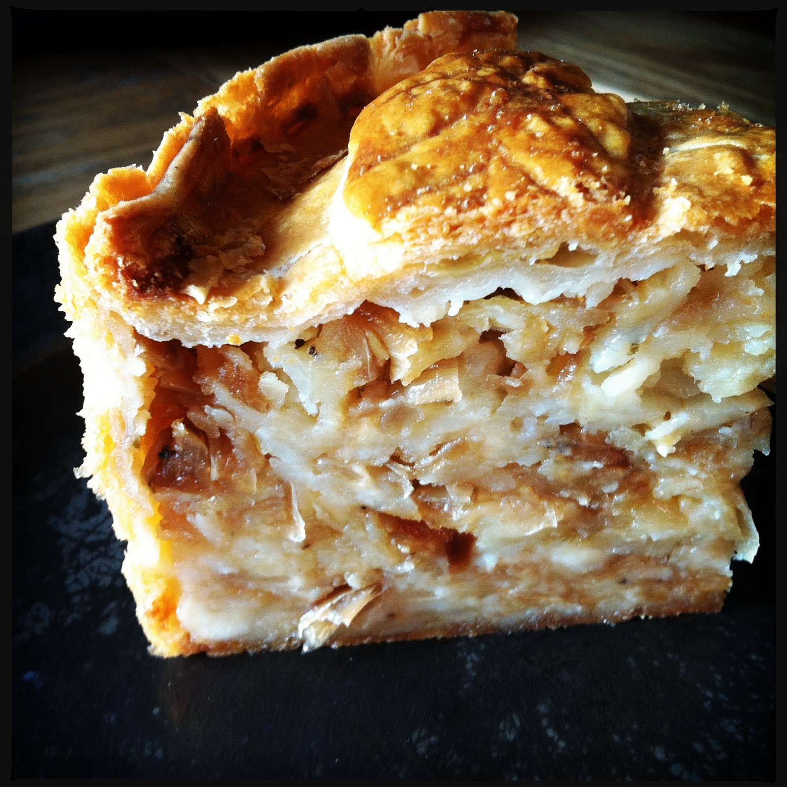 the vicar died laughing cheese caramelized onion pie