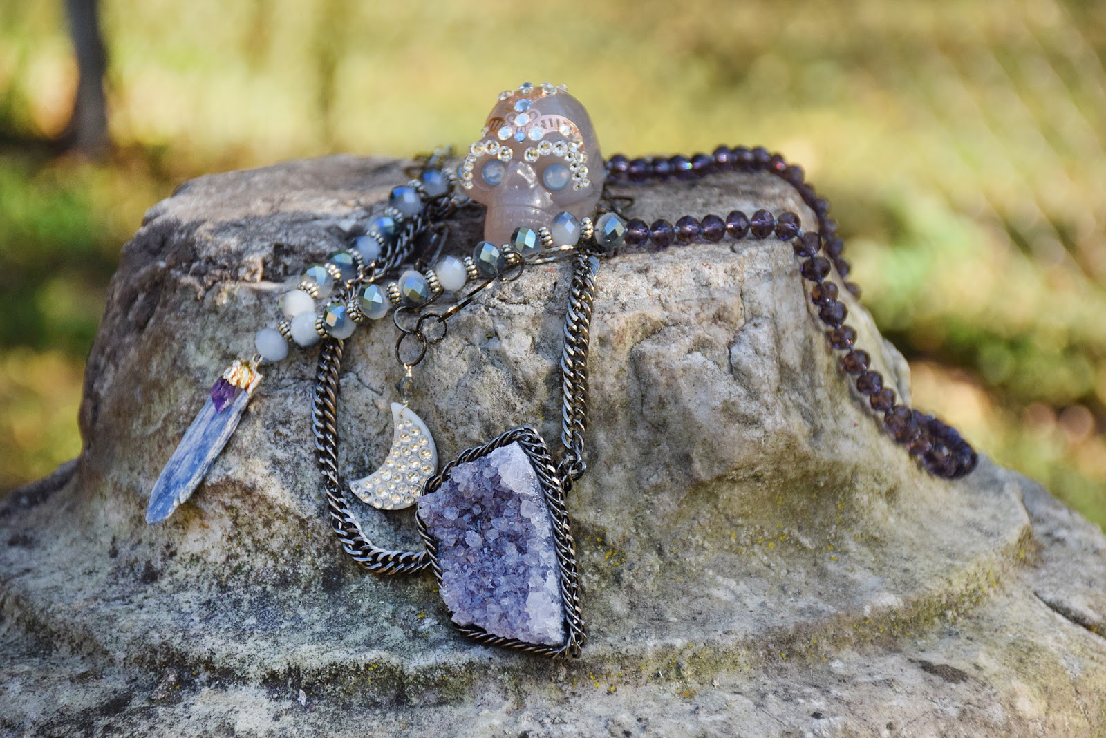 Beaded gypsy necklaces by Allison Beth Cooling