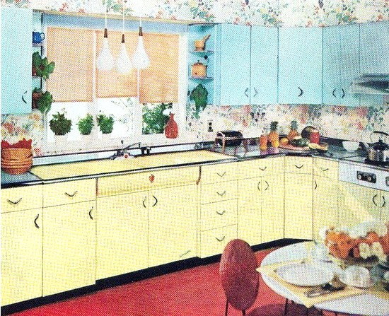 Farm Girl Pink ~ When Kitchens were packed full of colorful
